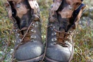 My boots, from Action Outdoors drying out